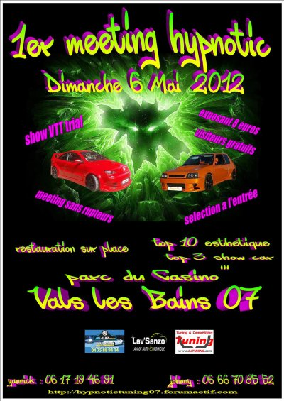 1er meeting Hypnotic Tuning 07 le 6 mai 2012 !!!
