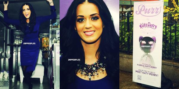 16 / 11 / 10 Katy Perry en promotion de son new parfum « PURR » à Broadway. Sa tenue est magnifique comme jamais ; ) sa robe est sublime <3 et son make up lui va très bien ! :)