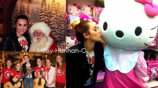 Miley c'est rendue à  la fête Sharing The Spirit Holiday.
