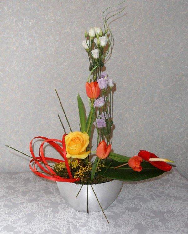 Cours d'art floral 2 : inspiration ikebana.