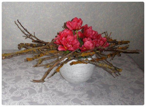 Atelier floral 1: bouquet de tulipes.
