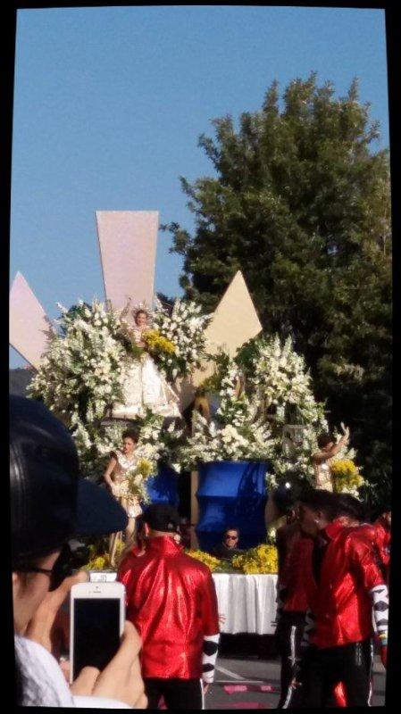 Carnaval de Nice : bataille de fleurs. Février 2017.