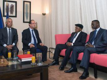 Hollande et Tshisekedi