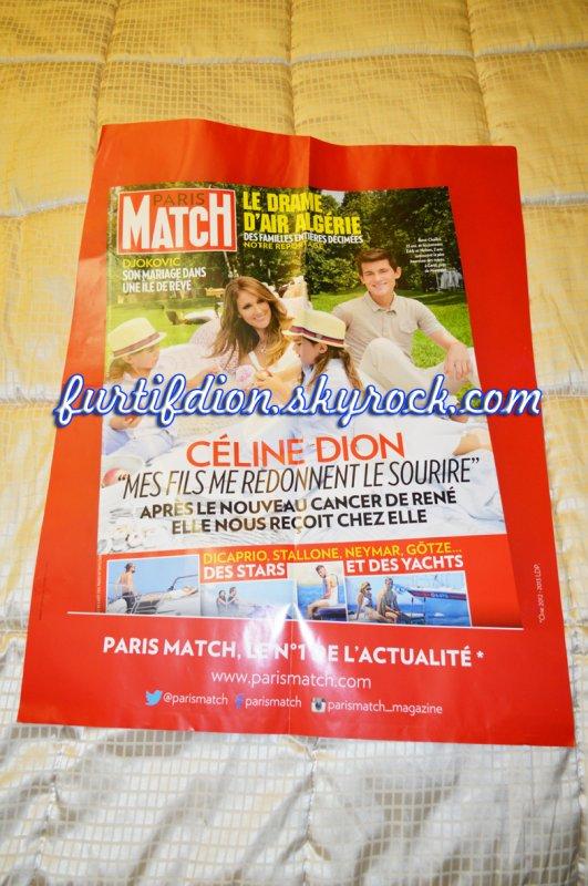 """Affiche """"Paris Match"""" n°3402 du 31 juillet au 6 août 2014"""