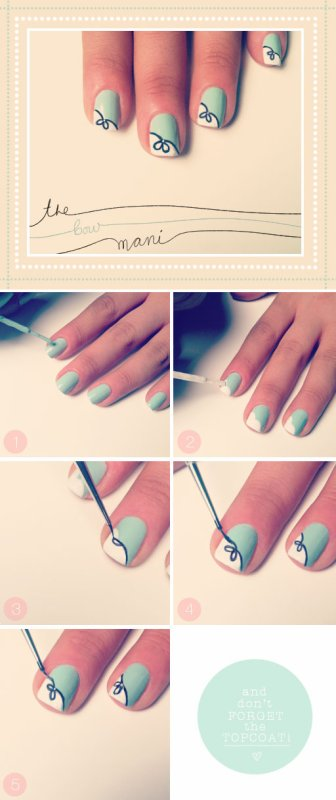 Nail Art #2 The bow mani