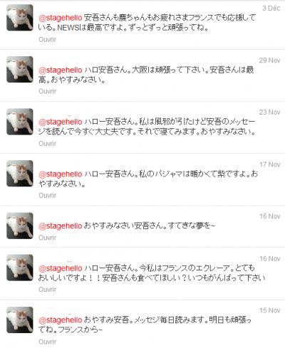 Hello Goodbye - MES tweets à Ango/Keii