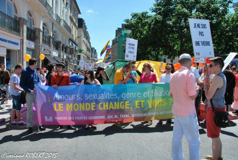 Marche des fiertés de Rennes 2015