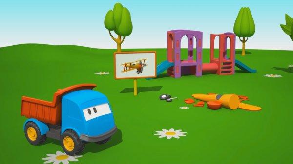 Cartoni animati per bambini leo il camion curioso e l aereo
