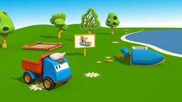 Cartoni animati per bambini leo il camion curioso e la barca