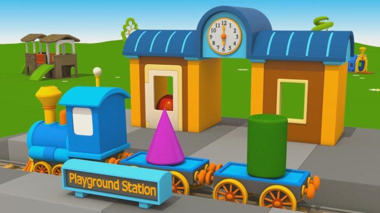 Cartoni animati per bambini u leo junior e la nuova stazione del