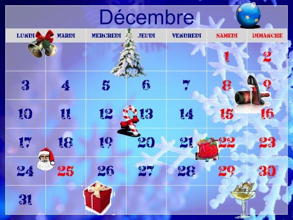 MOIS DE DECEMBRE 2012