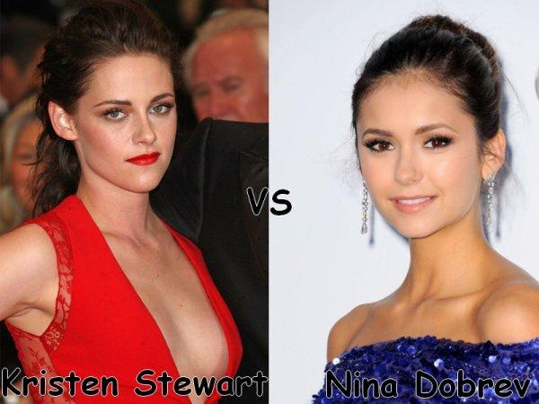 Kristen Stewart VS Nina Dobrev