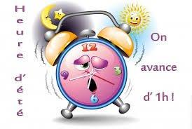 n'oubliez pas les amis le passage a l'heure d'été ce week-end !!!! bisous bisous