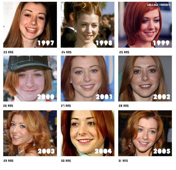 L'évolution d'Alyson entre 1997 et 2005