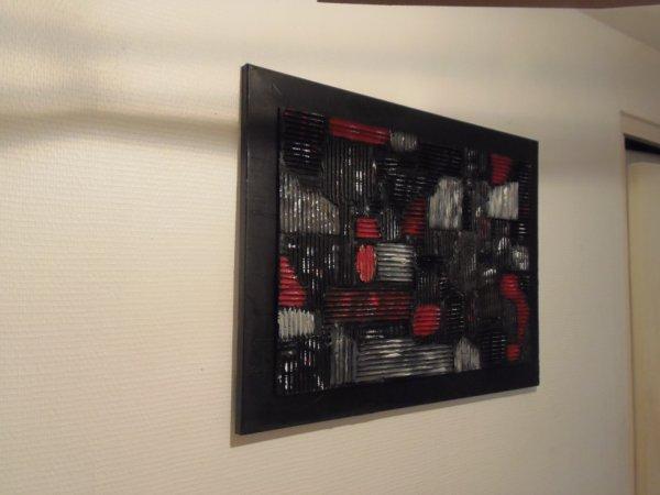 Mon tableau n°1 fait avec des morceaux de carton.