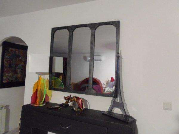 console plus miroir industriel