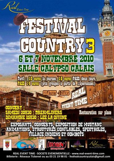 L'affiche du Festival Country 2010