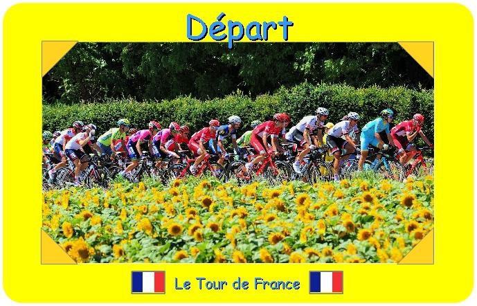 Dans 5 jours c'est le départ du tour de France :