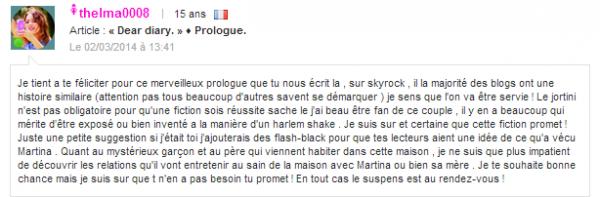 « Dear diary. » ♦ Chapitre I