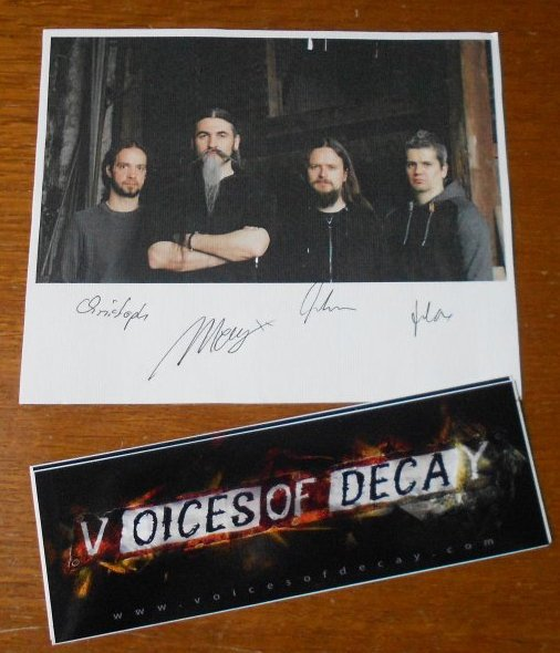 Le groupe Voices Of Decay