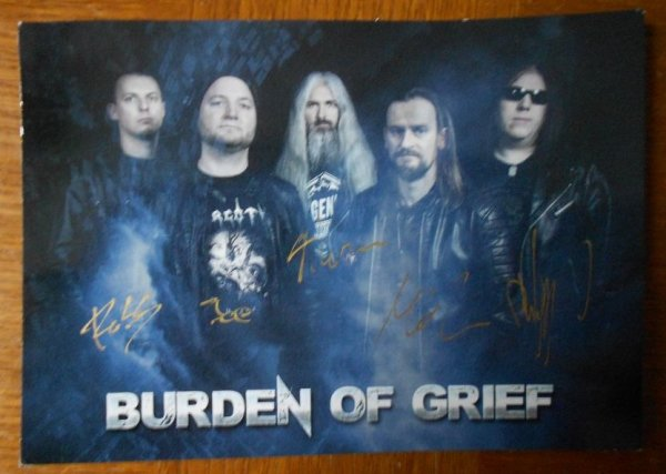 Le groupe BURDEN OF GRIEF