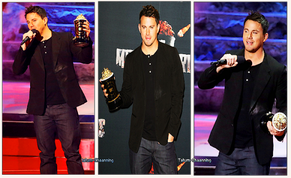 ₪ 13 Avril 2014 - Channing tatum recois la recompense du pionner au MTV MOVIE AWARD .
