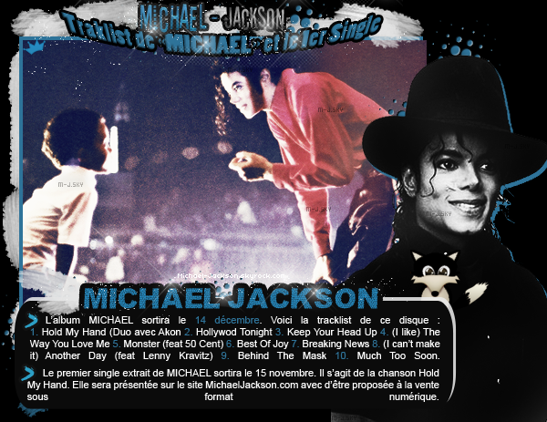 News : 12 Novembre 2010 : Tracklist de MICHAEL + 1er single.
