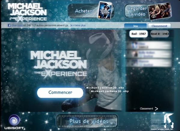 Michael Jackson The Experience sur Facebook