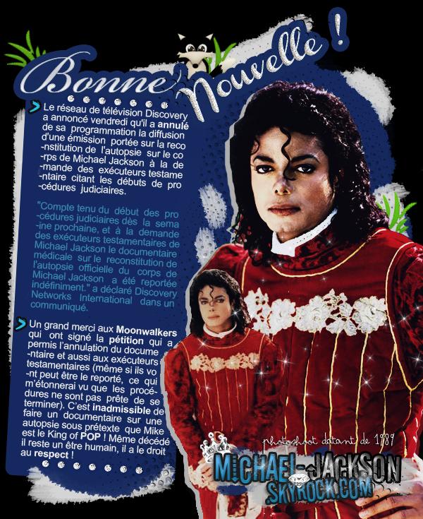 • Discovery annule son émission sur Michael Jackson •