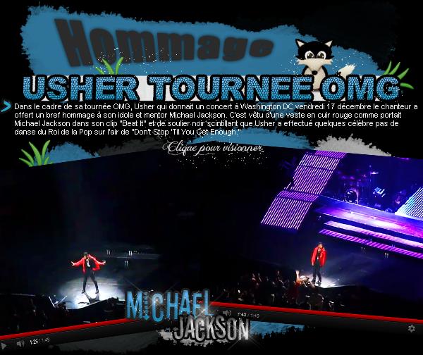 20 décembre 2010 : Usher rend hommage à Michael Jackson