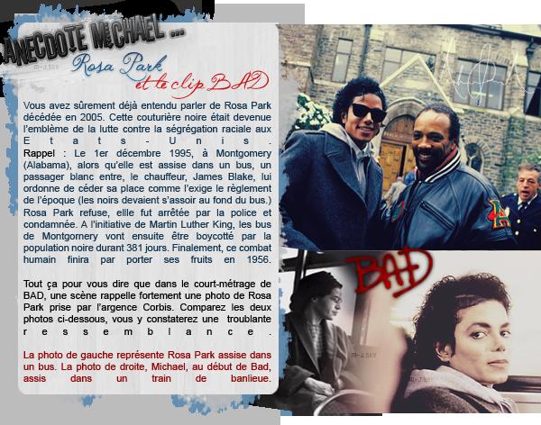 • Anecdote: Rosa Park et le clip Bad.