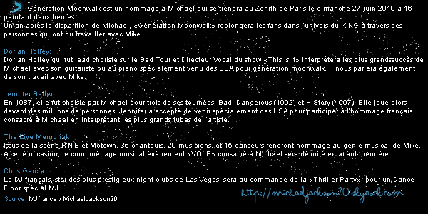 Moonwalk 27 juin au Zénith de Paris