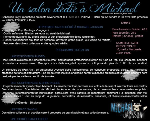 13 Janvier 2011 : Le premier salon dédié à Michael Jackson