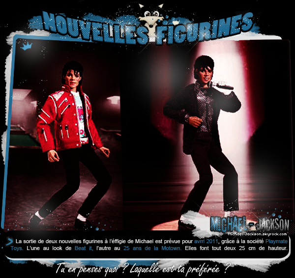 "Nouvelles figurines : ""Beat It"" et ""Motown 25th"""