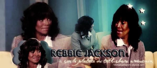 Interview de Rebbie sur le plateau du talk-show américain. Au sujet du procès de Conrad Murray.