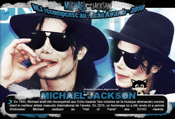"""Michael Jackson récompensé aux """"Echo Awards"""" 2010"""