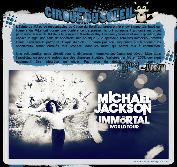 Des inédits de Michael au Cirque du Soleil