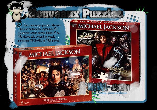 "Puzzles ""Thriller 25"" & Un de ""MICHAEL"""