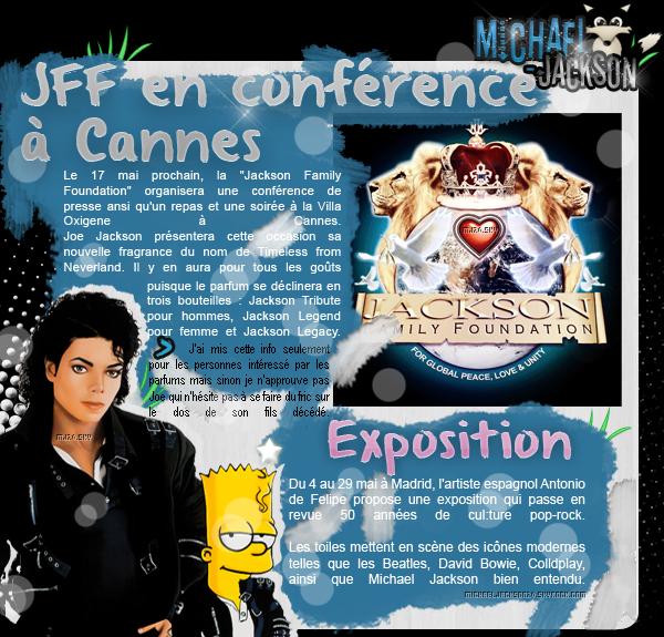 Expo: par Antonio de Felipe à Madrid. & Jackson Family Foundation en conférence à Cannes
