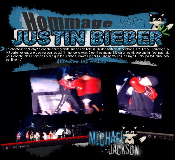 Quand Justin Bieber rend hommage à son idole sa donne ça !
