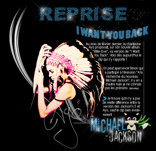 "Clip ""I want you back"" Ayo & Vidéo inédite."