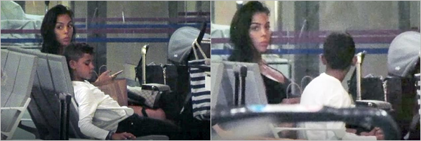 13.09.17 - Georgina et Junior à l'aéroport d'Ibiza pour rentrer à Madrid.