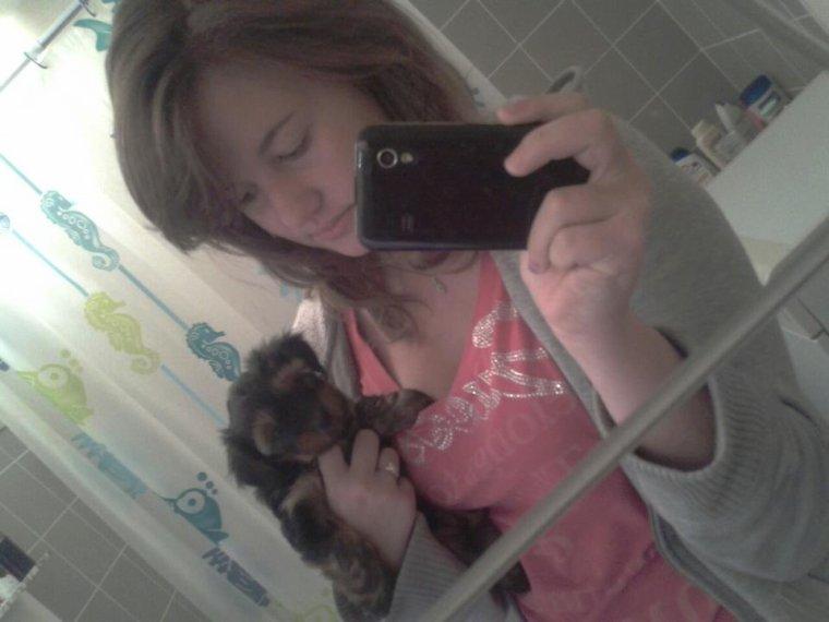 Moi et mon petite chien ♥
