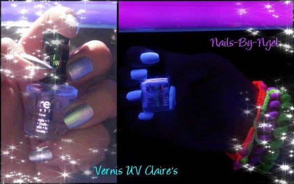 Mode UV grâce au vernis UV (Claire's)....