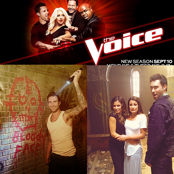 "* 1 Août 2012 // Candid // Behind the scene de ""American Horror Story"" ainsi que le poster de The Voice 3 *"