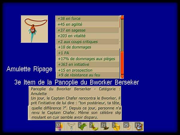 Amulette Ripage - Panoplie du Bworker Berseker