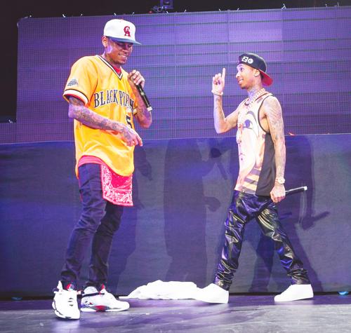 Chris , Nicki & Tyga At Power106 [22/03/13]