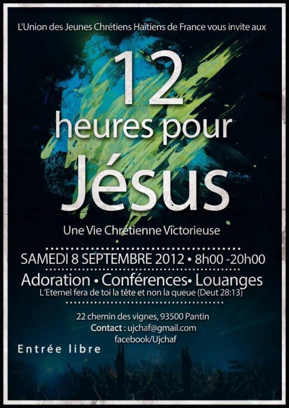 Pour une rentrée Victorieuse, viens aux 12 HEURES POUR JESUS Évènement public