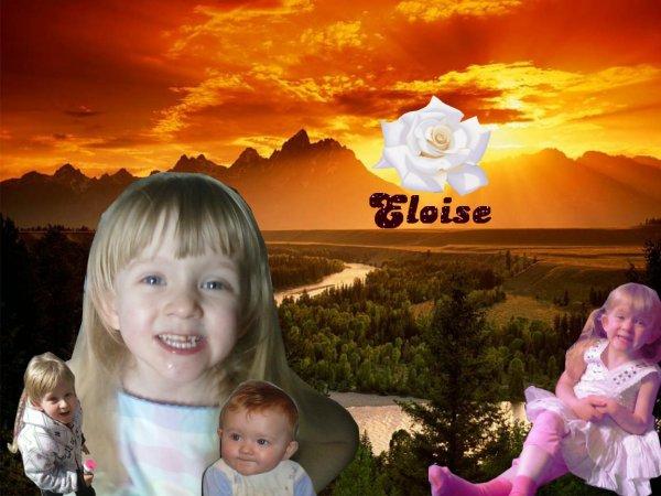 ma petite pestouille Eloïse je t'aime mon bébé :D