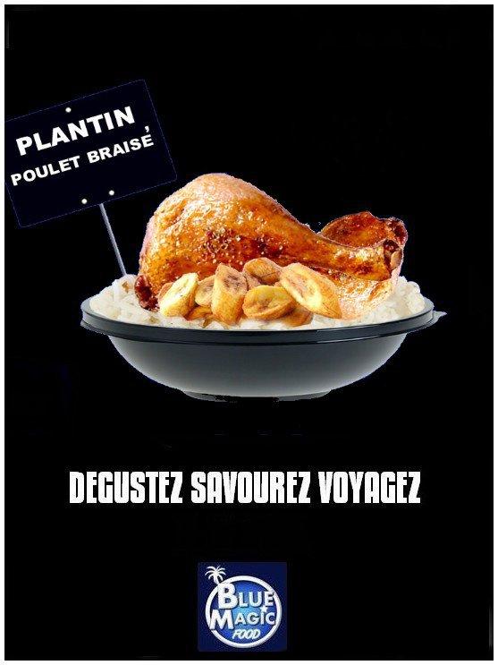 Plantain poulet braisé